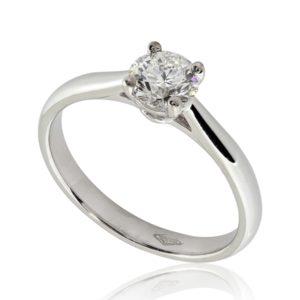 Bague de fiançailles distinguée, diamant 0.50ct G SI1 taille Excellente, taille 49 à 51. Livraison rapide en 3 à 1 jours ouvrés.