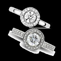bague diamant halo de luxe