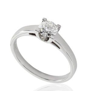 Solitaire diamant 0.51ct H VS2 GIA taille Excellente, taille 53 à 55. Livraison rapide en 3 à 1 jours ouvrés.