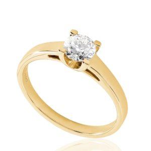 Contemporaine : Solitaire diamant en or rose 18k à cathédrale. Production et livraison en 18 à 4 jours ouvrés.